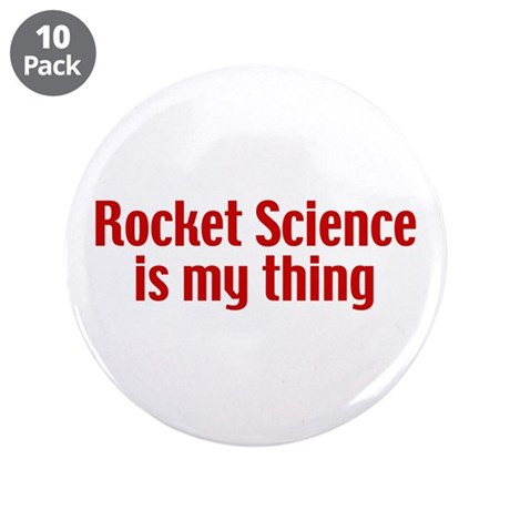 """Rocket Science 3.5"""" Button (10 pack)"""