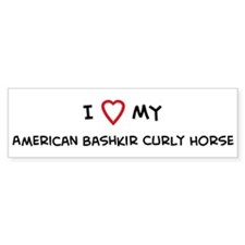 I Love American Bashkir Curly Bumper Bumper Sticker
