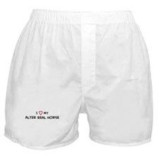 I Love Alter Real Horse Boxer Shorts