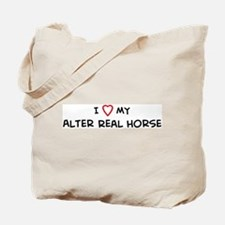 I Love Alter Real Horse Tote Bag