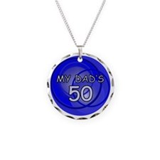 My Dad's 50 Necklace Circle Charm