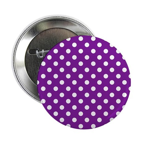 "Purple and White Polka Dot 2.25"" Button"