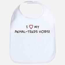I Love Akhal-Tekes Horse Bib