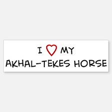I Love Akhal-Tekes Horse Bumper Bumper Bumper Sticker