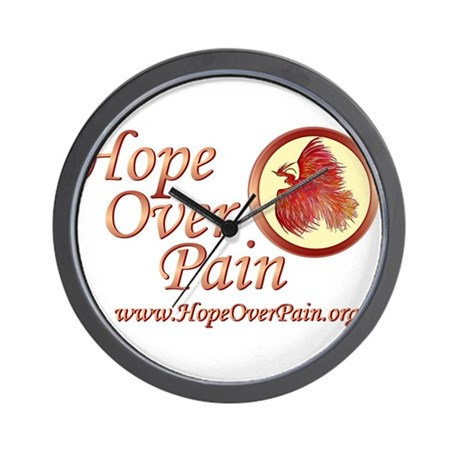 Hope Over Pain Wall Clock