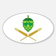 Pirate Hops Sticker (Oval)