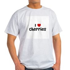 I * Cherries Ash Grey T-Shirt