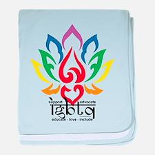LGBTQ Lotus Flower baby blanket
