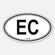 Ecuador (EC) euro Oval Decal