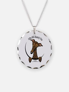 Brindle Greyhound IAAM Necklace