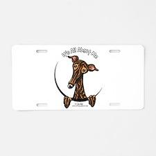 Brindle Greyhound IAAM Aluminum License Plate