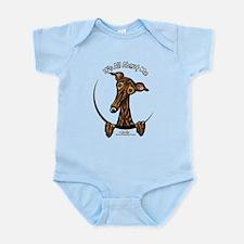 Brindle Greyhound IAAM Infant Bodysuit