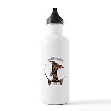 Brindle Greyhound IAAM Water Bottle