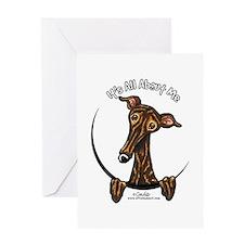 Brindle Greyhound IAAM Greeting Card