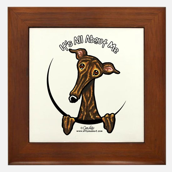 Brindle Greyhound IAAM Framed Tile