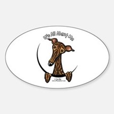 Brindle Greyhound IAAM Sticker (Oval)
