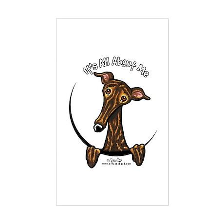 Brindle Greyhound IAAM Sticker (Rectangle)
