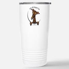 Brindle Greyhound IAAM Travel Mug