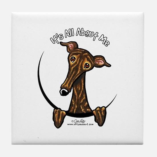 Brindle Greyhound IAAM Tile Coaster
