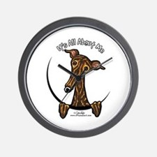 Brindle Greyhound IAAM Wall Clock