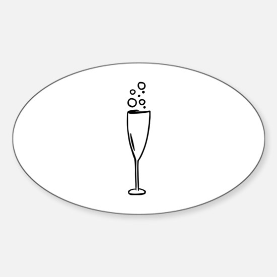 Champagne Sticker (Oval)
