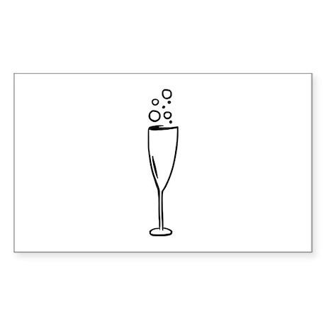 Champagne Sticker (Rectangle)