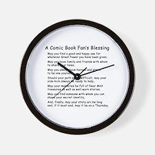Comic Book Blessing Wall Clock