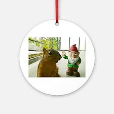 Bad Manors Gnome Hello Ornament (Round)