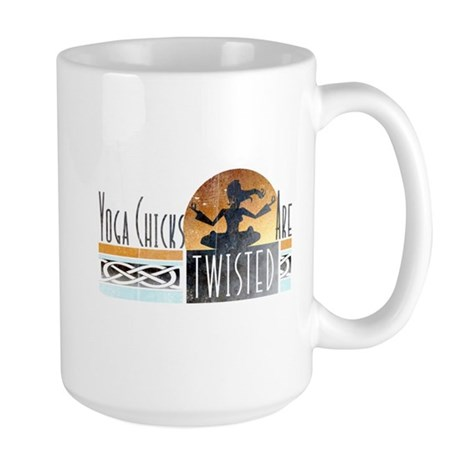 yoga chicks Large Mug