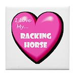 I Love My Racking Horse Tile Coaster
