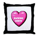 I Love My Racking Horse Throw Pillow