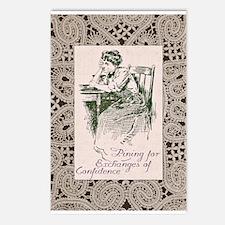 Sad Edwardian Woman Postcards (Package of 8)