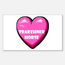 I Love My Trakehner Horse Rectangle Decal