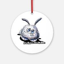 Dust Bunny Portrait Ornament (Round)