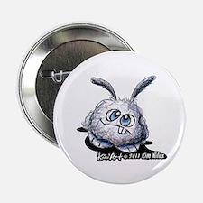 """Dust Bunny Portrait 2.25"""" Button"""