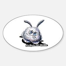 Dust Bunny Portrait Sticker (Oval 10 pk)