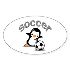 Soccer Penguin (6) Decal