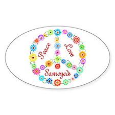 Peace Love Samoyeds Decal