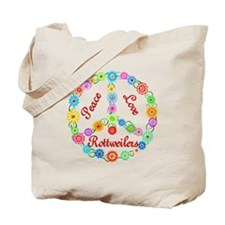 Peace Love Rottweilers Tote Bag