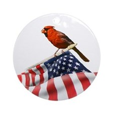 USA Cardinal Ornament (Round)