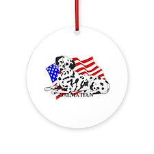 Dalmatian USA Ornament (Round)