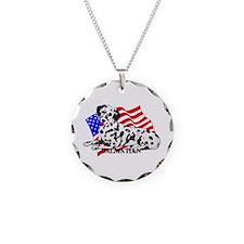 Dalmatian USA Necklace Circle Charm