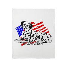 Dalmatian USA Throw Blanket