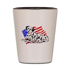 Dalmatian USA Shot Glass