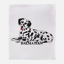 Cartoon Dalmatian Throw Blanket