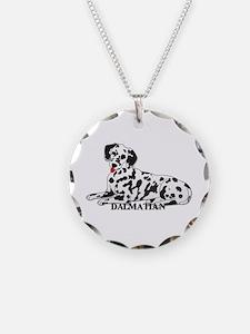 Cartoon Dalmatian Necklace Circle Charm