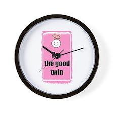 I'M THE GOOD TWIN Wall Clock