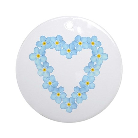 Forget Me Not Ornament (Round)