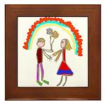 Young Love Framed Tile