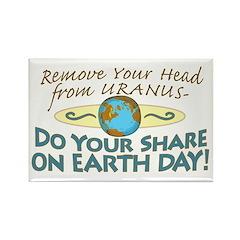 Funny Earth Day Uranus Rectangle Magnet